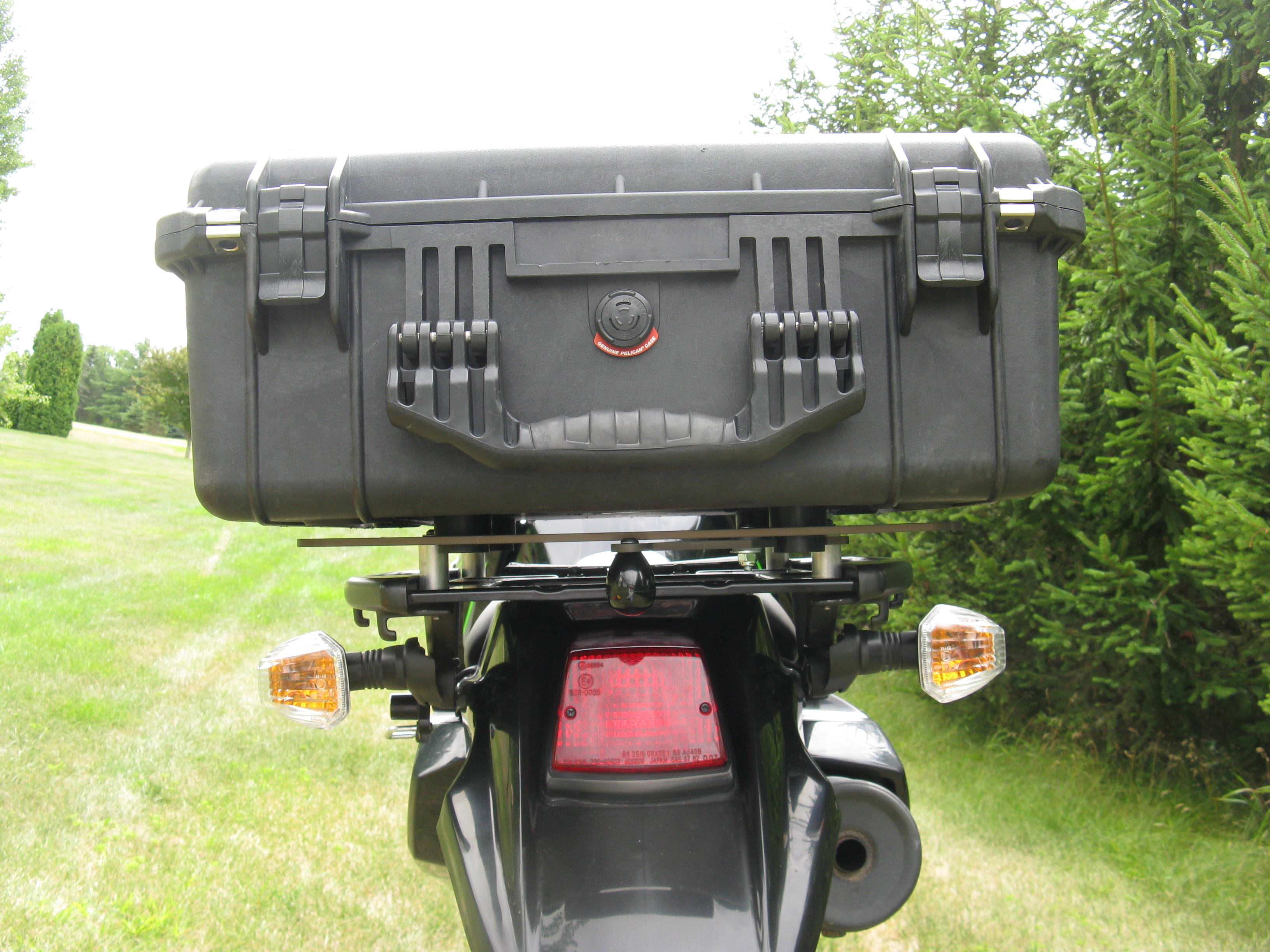 2008 2018 Klr 650 Slider Rear Rack With Top Box Quick